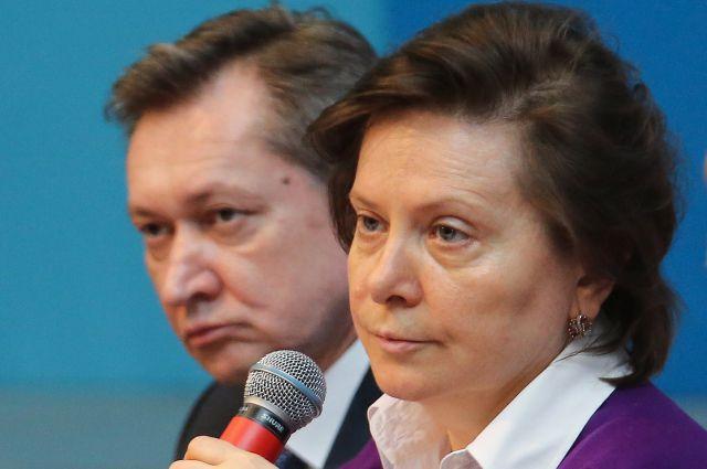 Губернатор Югры Наталья Комарова и мэр Сургута Дмитрий Попов.