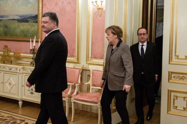Встреча Порошенко, Олланда и Меркель в Киеве