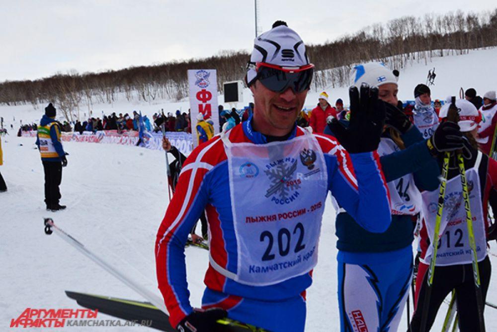 Первый! В заезде на 10 км победил пограничник из Петропавловска Николай Абакумов.