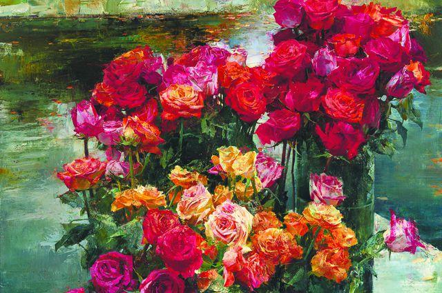 Картина Ларисы Псарёвой «Оттенки воды»