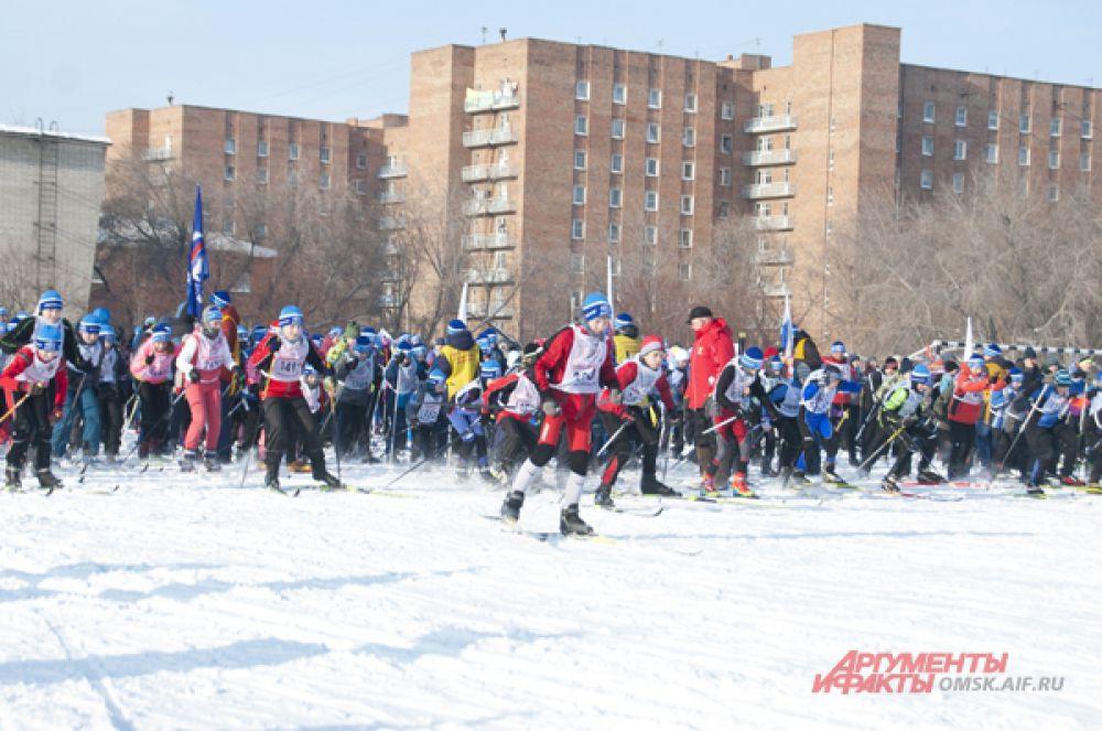 В Омске прошла «Лыжня России-2015»