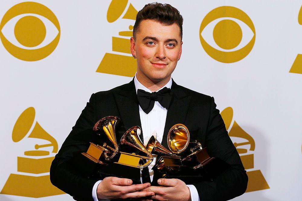 Триумфатором «Грэмми-2015» стал 22-летний Сэм Смит, выпустивший в 2014 году дебютный альбом. Он удостоился наград в категориях «Песня года» (Stay With Me), «Лучший новый артист», «Лучший поп-альбом с вокалом», «Запись года». В этих номинациях ему удалось обойти Игги Азалию, Тейлора Свифта, Меган Трейнор.