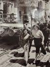 Ратна Раджья Лакшми Деви, королева Непала во время посещения Сталинградской ГЭС, 1958 год.
