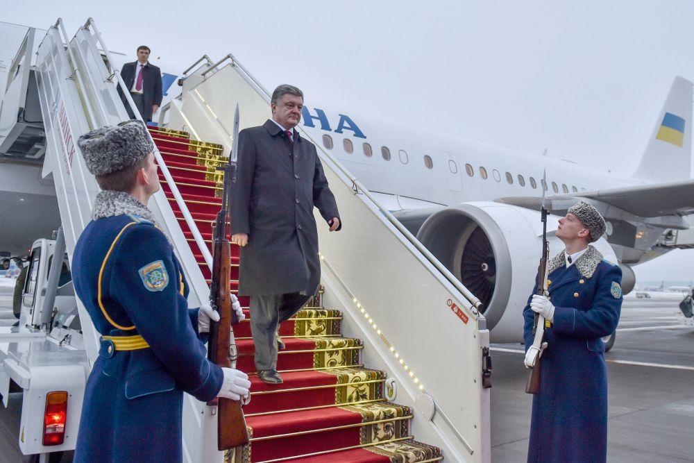 Петр Порошенко в Минске