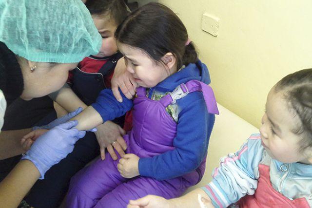 Обследование детей в Олюторском районе.