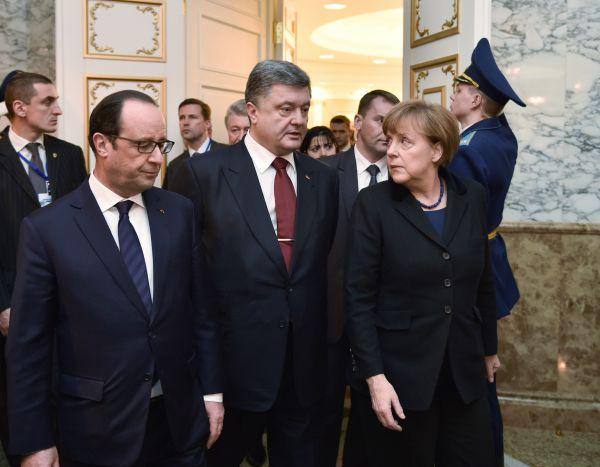 Фото с переговоров «нормандской четверки» в Минске