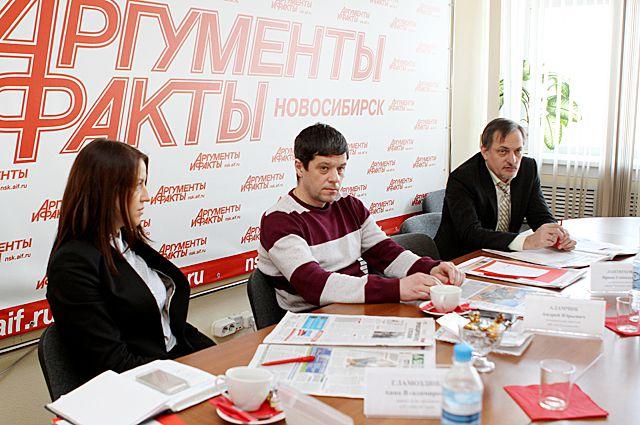Участники «Совет Экспертов» с застройщиками Новосибирска в пресс-центре «АиФ-Новосибирск».