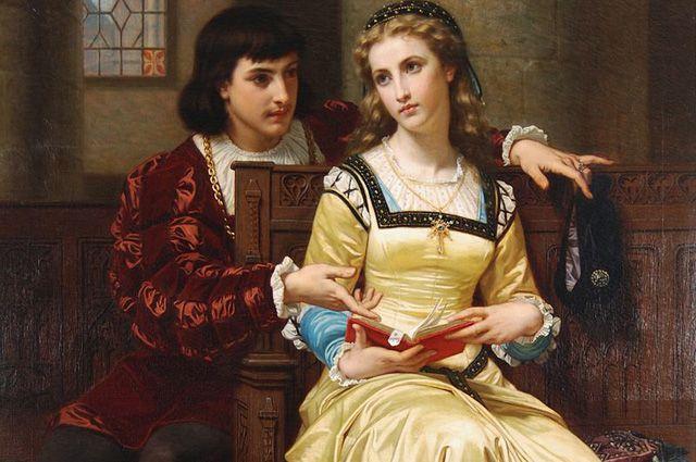 Картина Хьюго Мерле «Ромео и Джульетта», 1873 г.