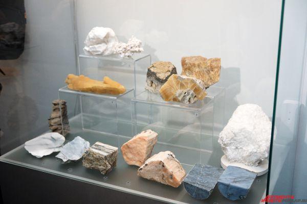 В первом зале представлены минералы Пермского края.