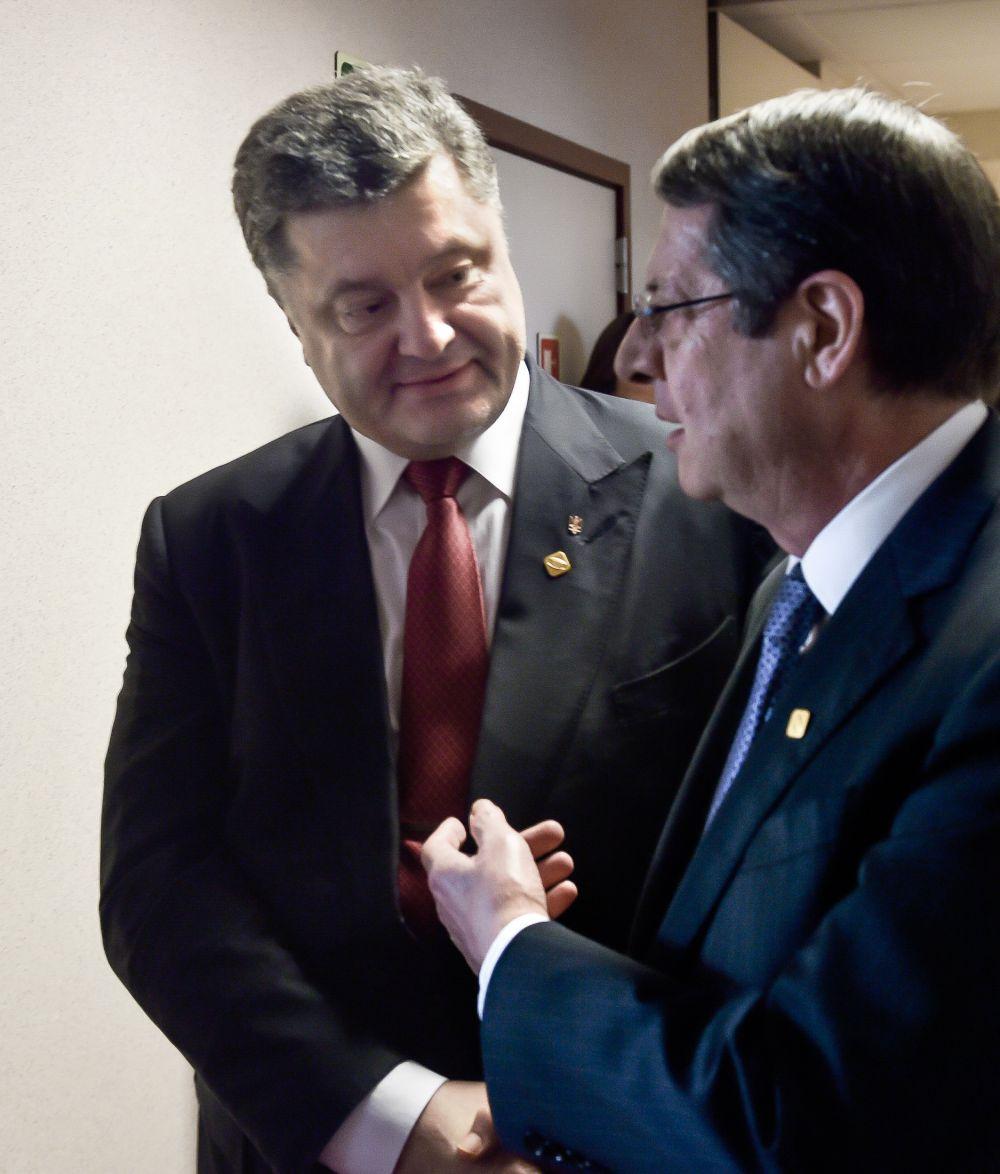 Петр Порошенко и Никос Анастасиадис