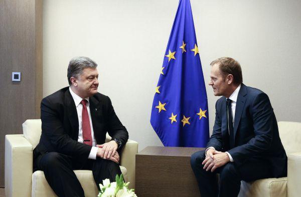 Петр Порошенко и Дональд Туск