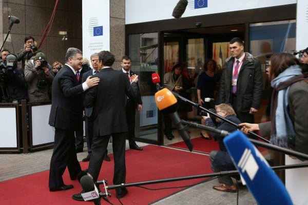 Петр Порошенко в Брюсселе