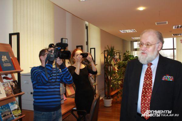 Визит Чурова в Тулу всегда вызывает интерес у представителей СМИ.