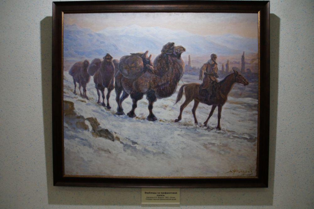 Даже верблюды помогали людям на войне. Например, перевозили снаряды.