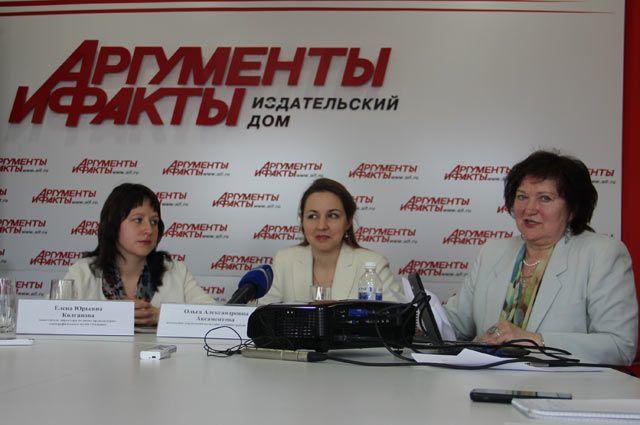 Елена Колганова, Ольга Аксаментова и Лидия Эверстова