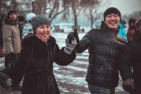 Празднование Нового года по лунному календарю в Иркутске.
