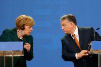 Ангела Меркель и Виктор Орбан.