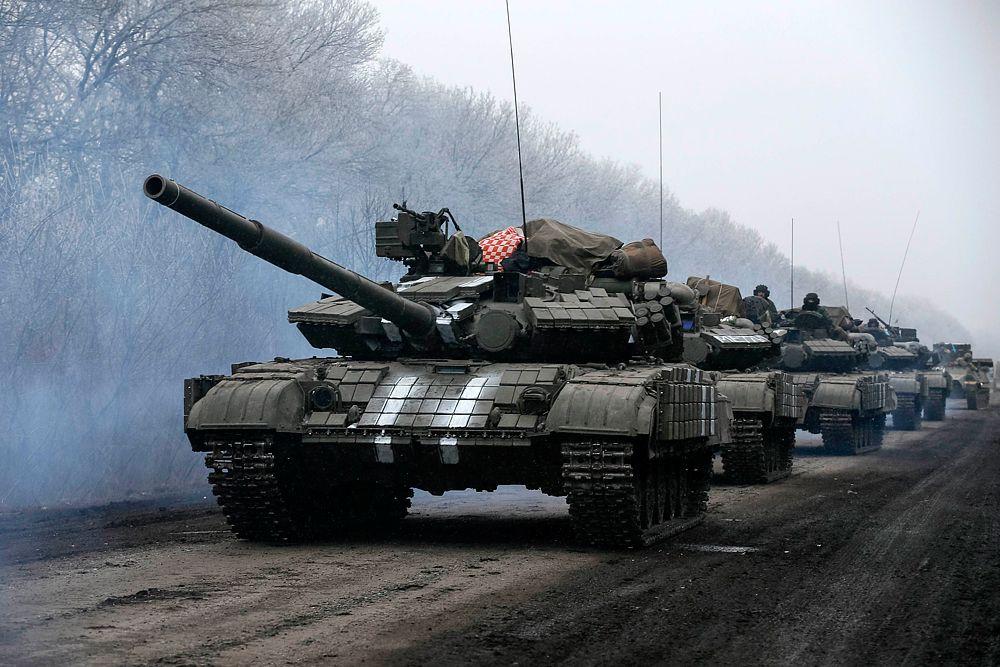 Украинские силовики в районе Дебальцево.
