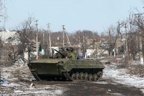 Украинские силовики в Никишино.