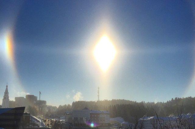 Гало над Ханты-Мансийском.