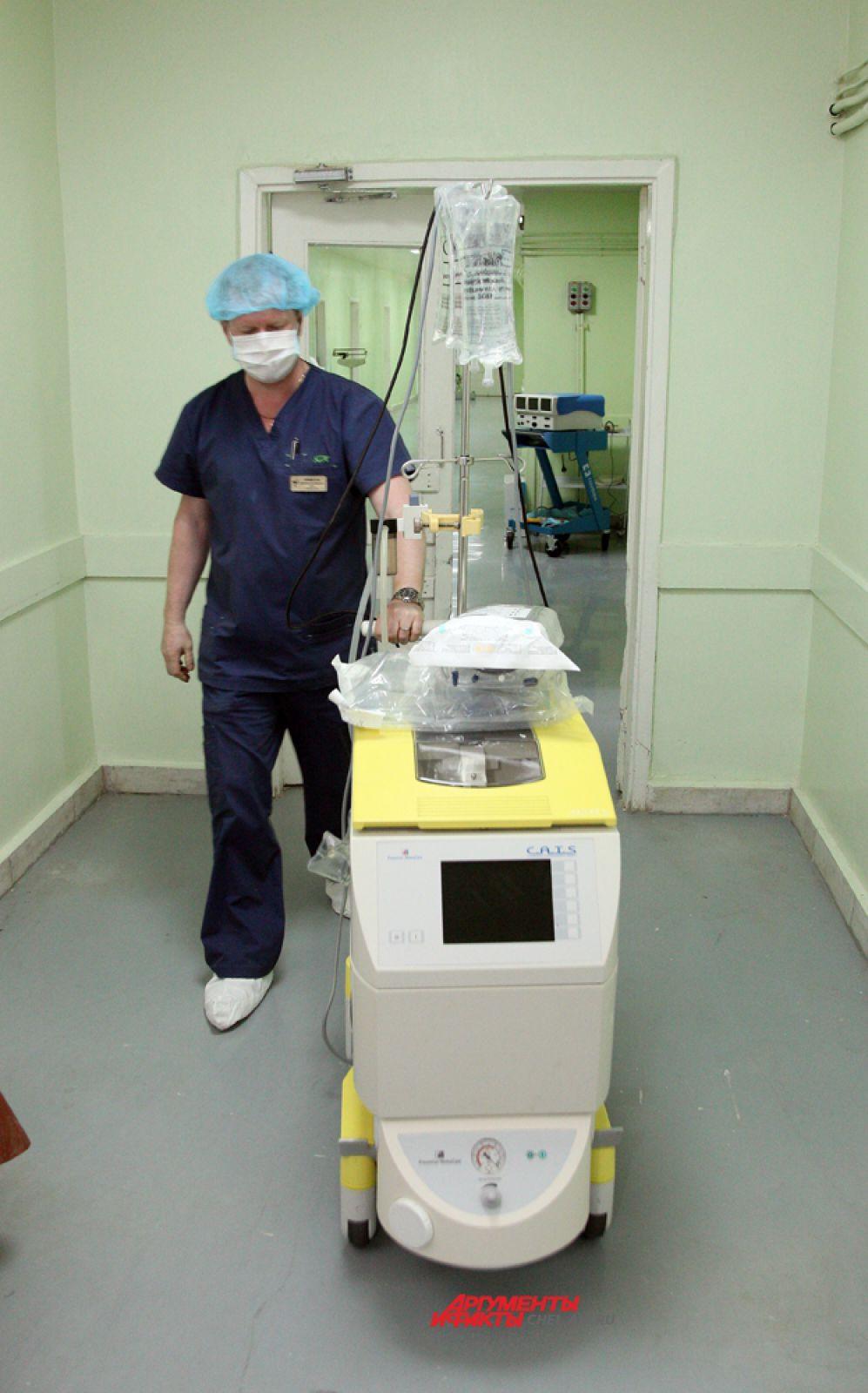 """""""селл-сэйвер """"  - аппарат, позволяющий  проводить операции с большой кровопотерей"""