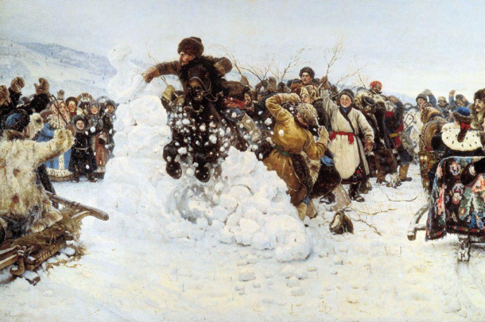 Василий Суриков, «Взятие снежного городка». 1891