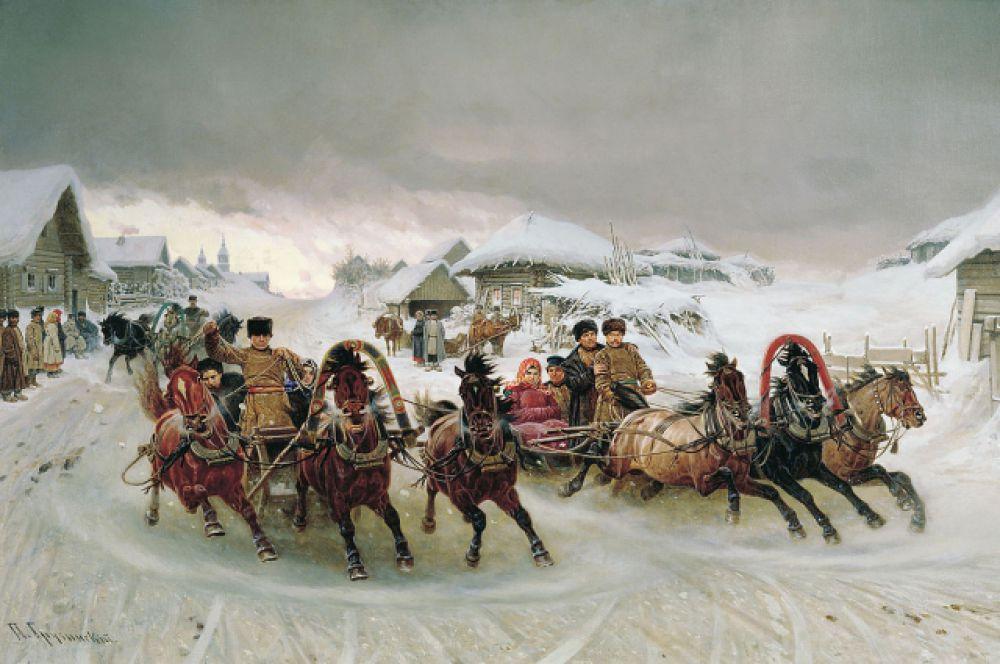 Пётр Грузинский, «Масленица». 1889