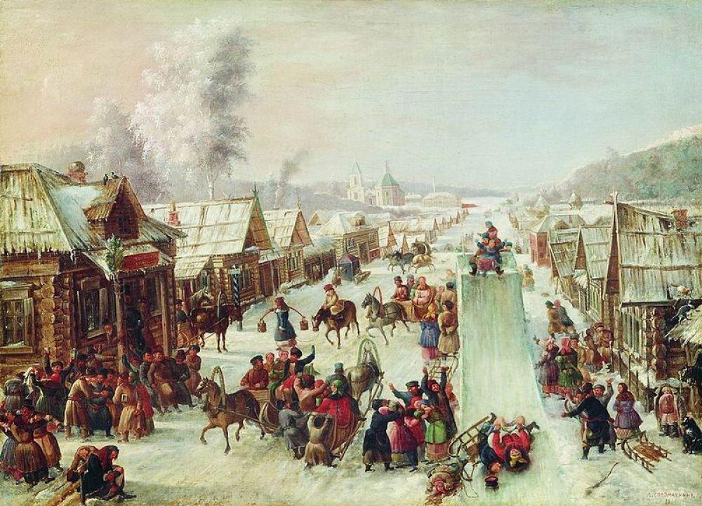 Леонид Соломаткин, «Масленица (Ну и масленица!)». 1878