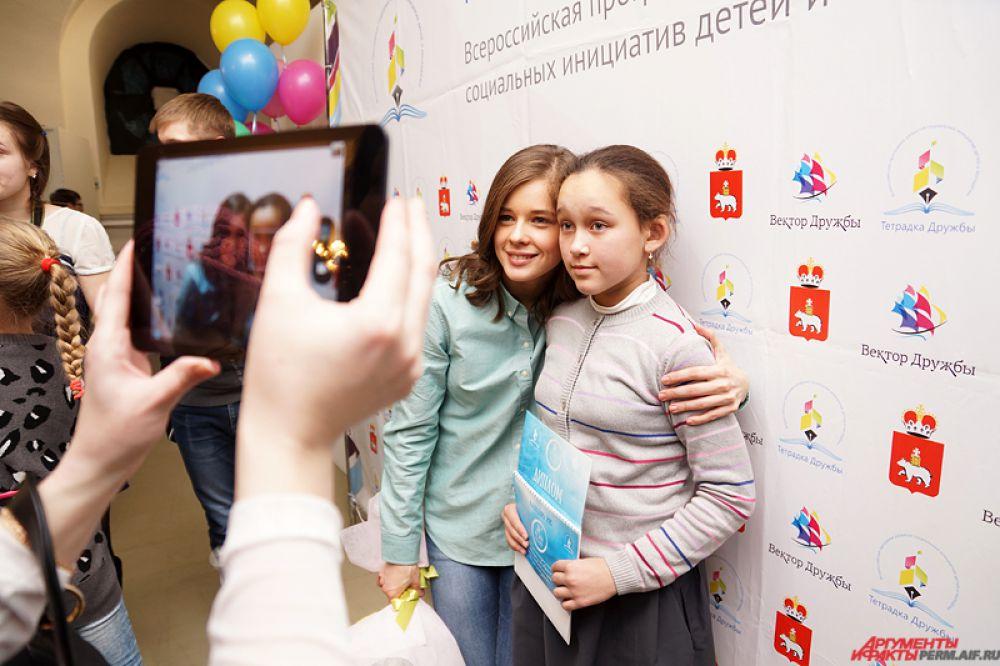 Более получаса длилась фотосессия с пермской актрисой.