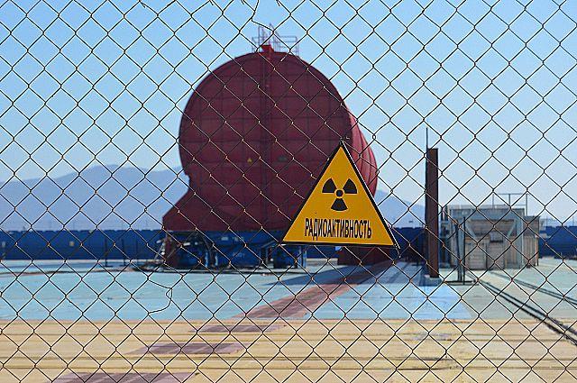 Зона утилизации атомных подводных лодок в Приморье.
