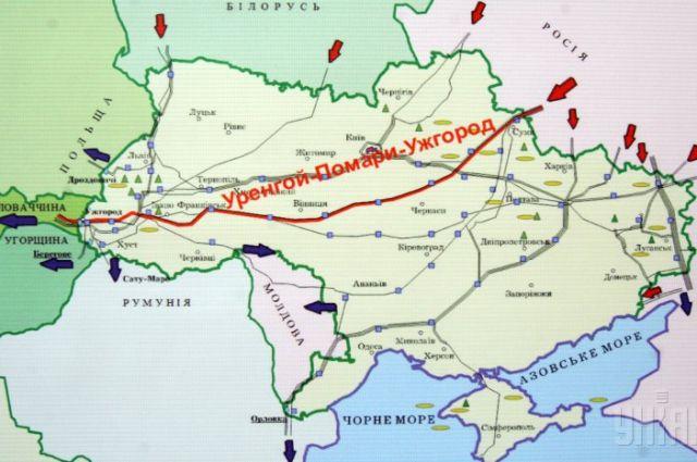 Газопроводы в Украине