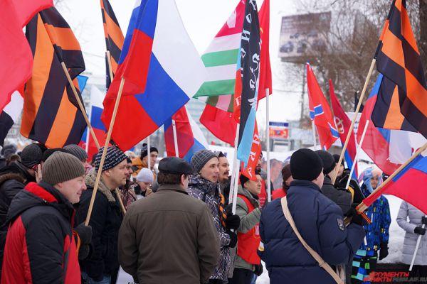 Также акция была направлена против государственного переворота в России.