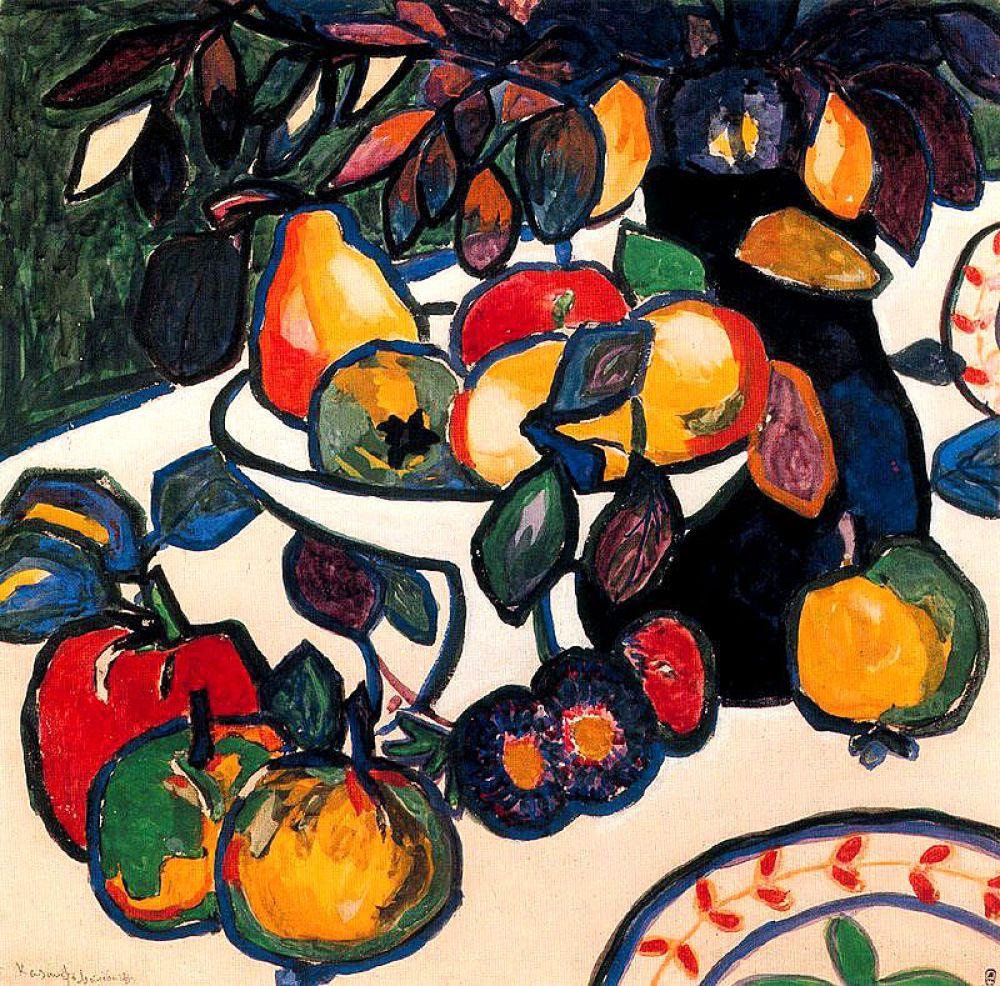 В 1911 году художник становится членом «Союза молодежи». Появляются работы «Человек в острой шапке», «Натюрморт», «Женский портрет». Испытывая влияние фовизма, художник  отходит от импрессионизма.