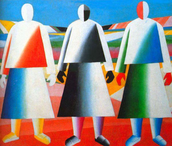 В 1930 году Малевич был признан немецким шпионом и несколько месяцев провел в тюрьме. В это время художник, поняв, что супрематизм исчерпал себя, изобретает новое направление, которое должно объединить абстрактное и изобразительное начало в живописи – супернатурализм. Малевич пишет картины «В поле», «Девушки в поле».