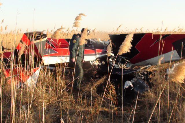 Под Дугино в Ростовской области разбился легкомоторный самолет.