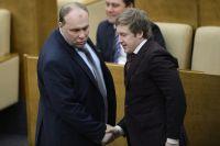 Депутаты перед началом пленарного заседания в Госдуме РФ.
