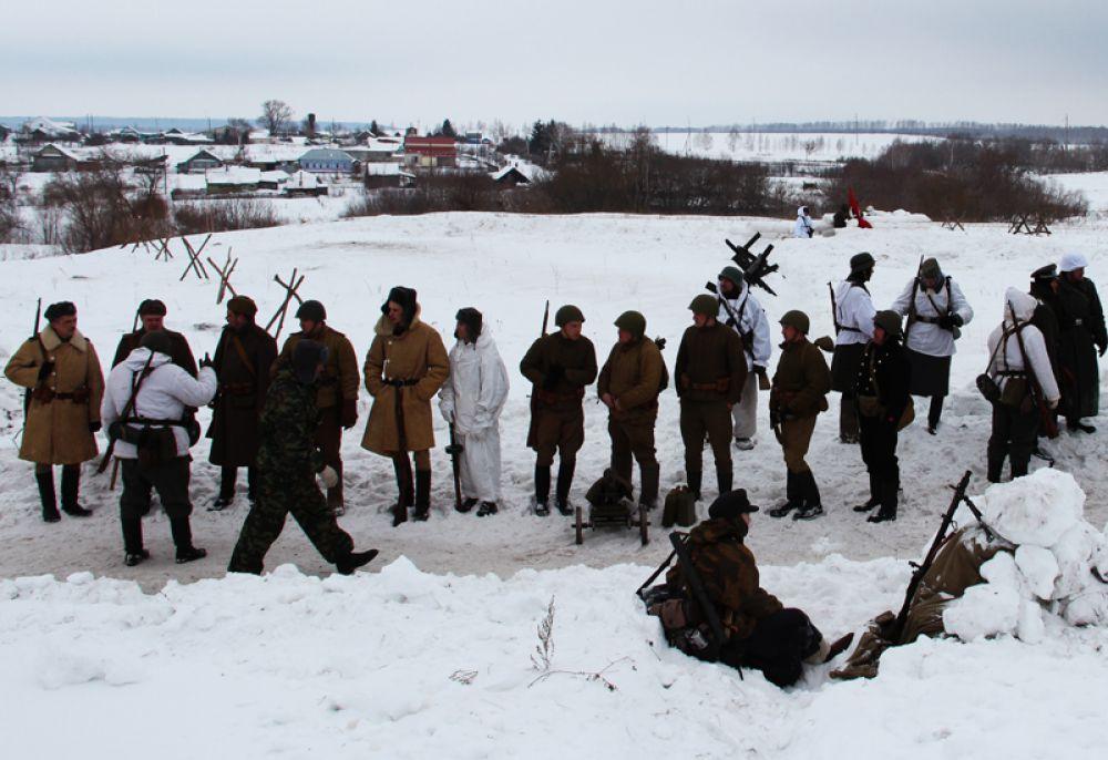 Войска занимают позицию для атаки