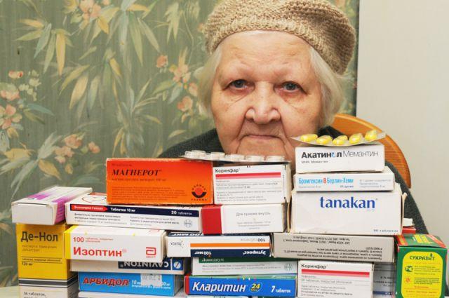 Больше всего в бесплатных лекарствах нуждаются пенсионеры.