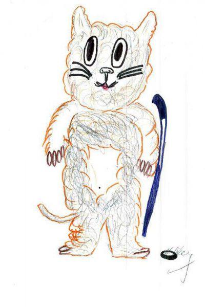 Талисман: «Леопольд Денчик». Автор талисмана: Павленко Данила Сергеевич. Описание идеи: Потому что очень люблю кошек.