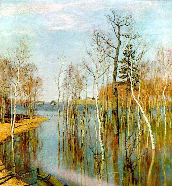 Исаак Левитан. «Весна. Большая вода». 1897 год.