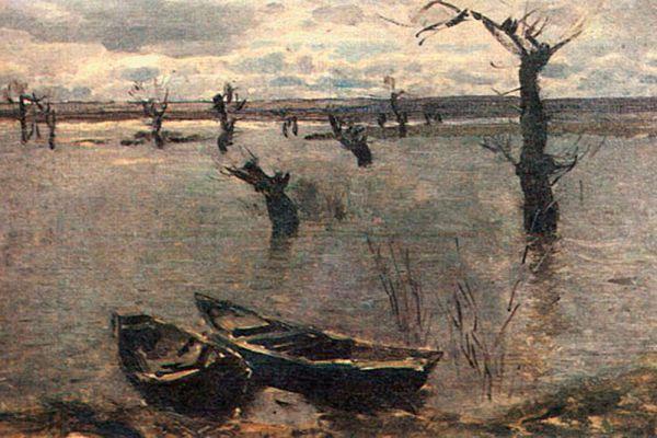 Исаак Левитан. «Разлив. Весна». 1887 год.