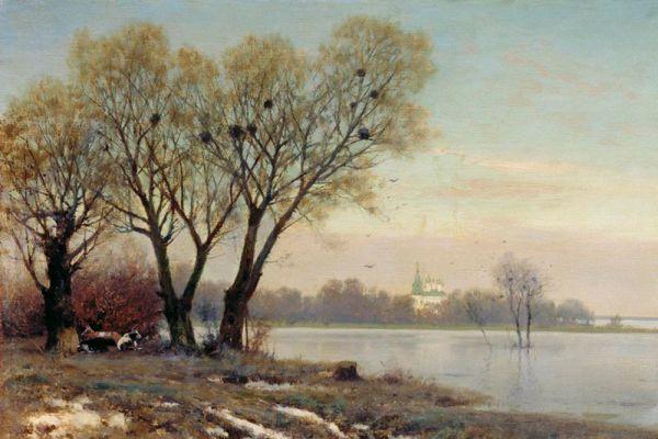 Константин Крыжицкий. «Ранняя весна». 1904 год.