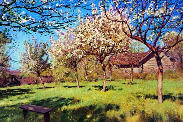 Исаак Левитан. «Весна. Яблони цветут». Середина 1890-х годов.