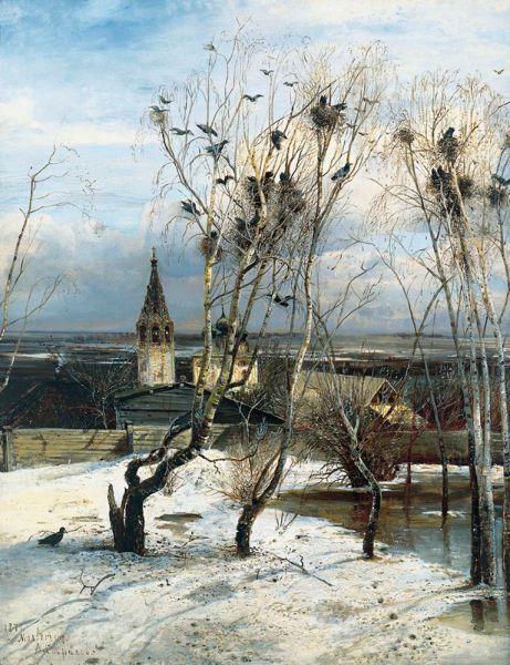 Алексей Саврасов. «Грачи прилетели». 1871 год.