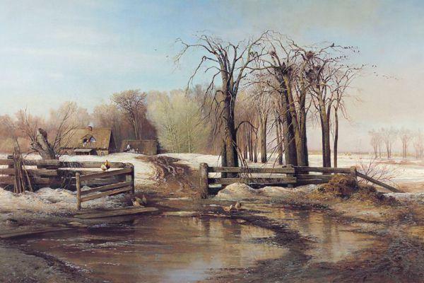 Алексей Саврасов. «Весенний день». 1873 год.
