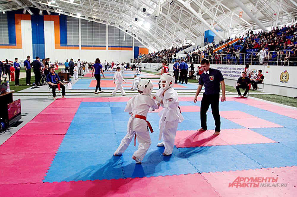 """В центре спортивной подготовки """"Заря"""" было 14 спортивных площадок на каждой из которых проходили соревнования по определенному виду единоборств."""