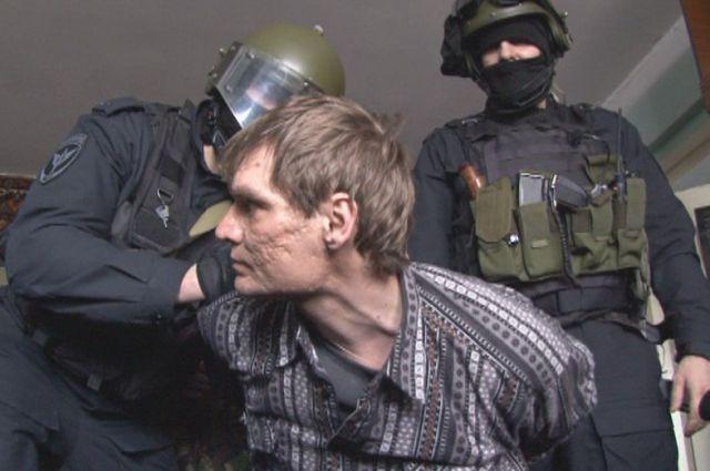 Стрелка задержали бойцы СОБРа.