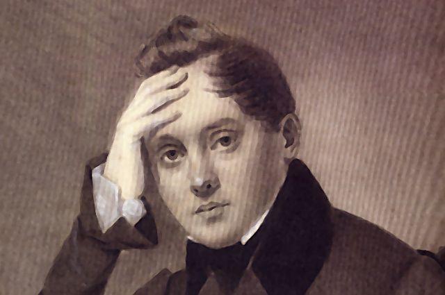 Е.А.Боратынский. Рисунок неизвестного художника. 1830-е