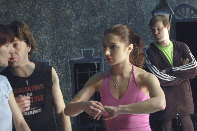 Надежда Калинина на репетиции балета «Шинель».