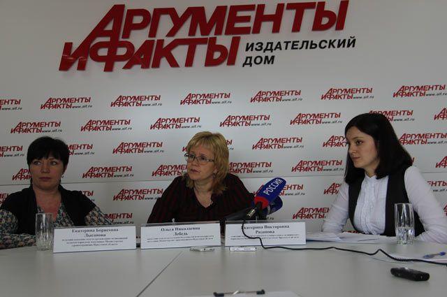 Екатерина Лысанова, Ольга Лебедь и Екатерина Рязапова